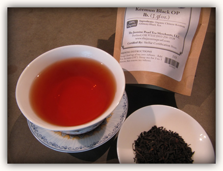 Keemun black first steeping